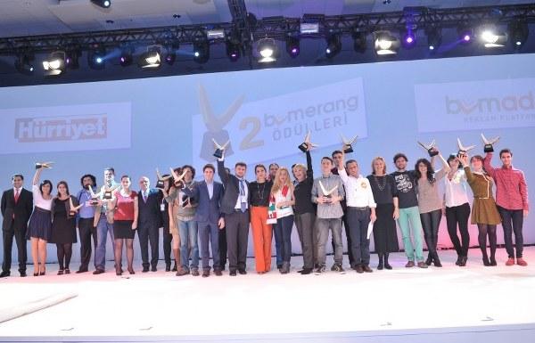Hürriyet - Bumerang Ödülleri, 2012