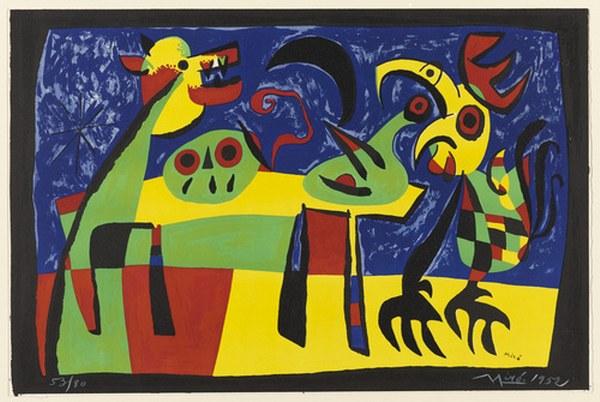 Joan Miro, Dog Barking At The Moon