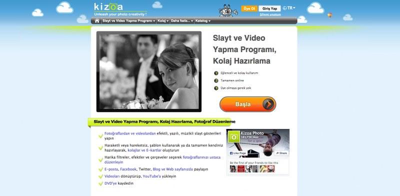 Kizoa - Slayt ve Video Yapma Programı