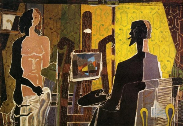 Georges Braque, The Painter and His Model